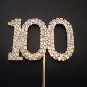 Diamante Number 100 Cake Topper