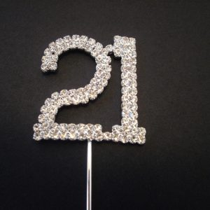 Diamante Number 21 Cake Topper