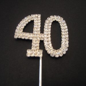 Diamante Number 40 Cake Topper