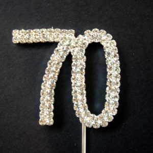 Diamante Number 70 Cake Topper