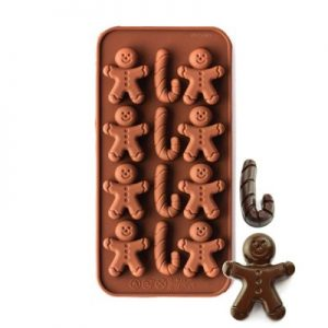 Gingerbread Men & Candy Canes Silicone Mould