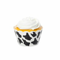 Cow Black Cupcake Wrappers