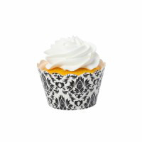 Damask Black Cupcake Wrappers