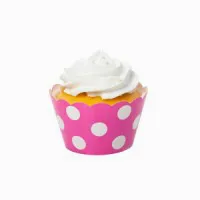 Dots Pink Cupcake Wrappers
