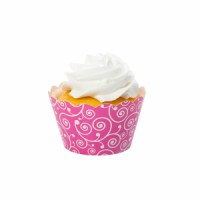 Filigree Pink Cupcake Wrapper