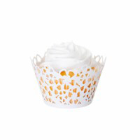 Floral Pearl White Cupcake Wrapper