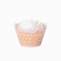 Floral Pink Cupcake Wrapper