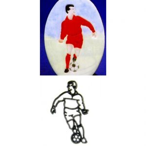 Footballer Patchwork Cutter