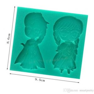Frozen Anna & Elsa Silicon Mould