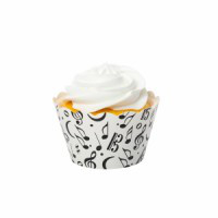 Music Black Cupcake Wrappers