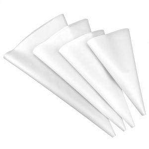 Set of 4 Silicon Piping Bags White