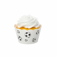 Soccer Black Cupcake Wrappers