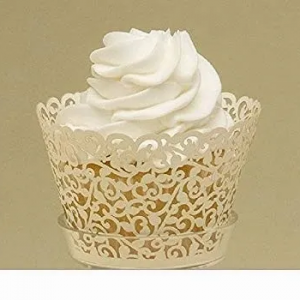 Wedding Lace Ivory Cupcake Wrappers