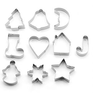 Christmas Cookie Cutters Set Of 10