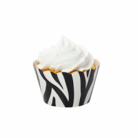 Zebra Black Cupcake Wrappers
